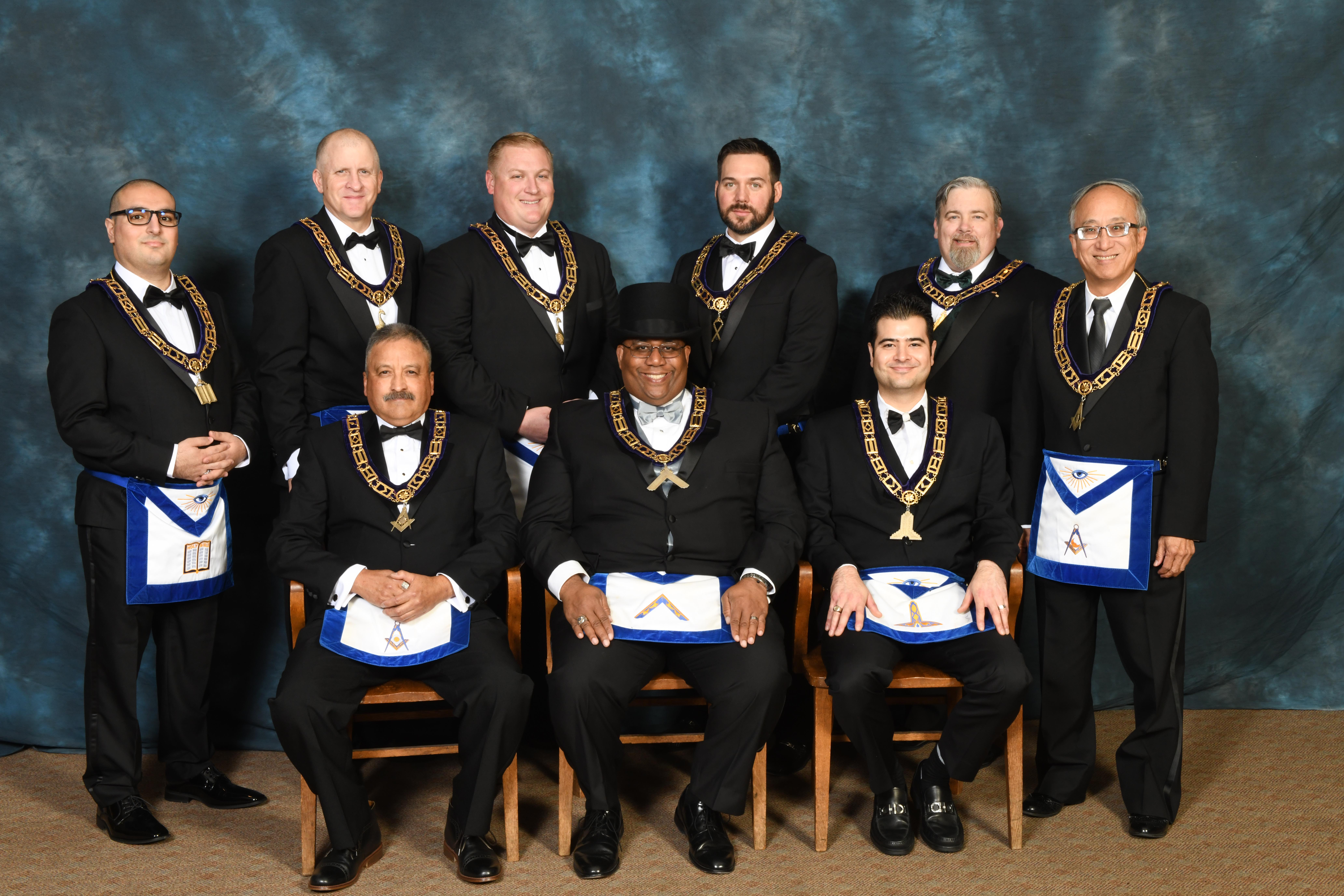 2019 Master and Lodge Officers